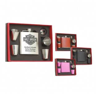 Laser Engravable 6 Piece Flask Set - 6 oz.