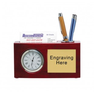 Clock with Pen & Cardholder