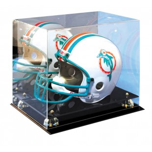 Mirrored Helmet Display Case