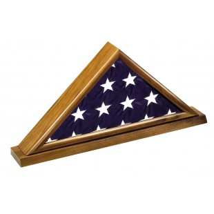 Walnut Memorial Casket Flag Case