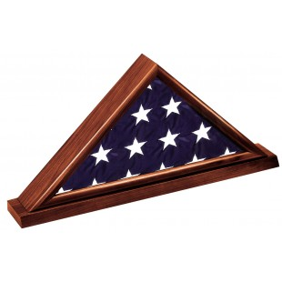 Dark Cherry Memorial Casket Flag Case