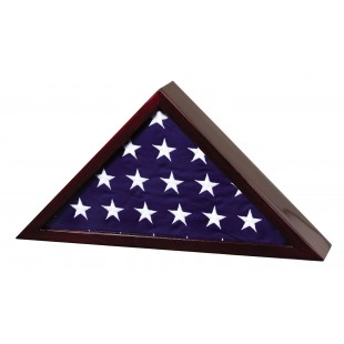 Rosewood Memorial Casket Flag Case