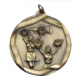 "Cheerleading 2-1/4"" Die Cast Medal"