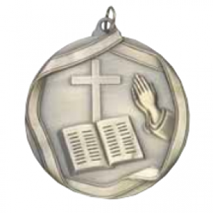 "Church 2-1/4"" Die Cast Medal"