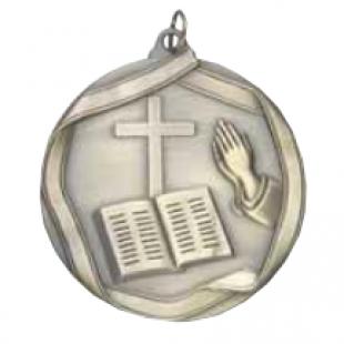 """Church 2-1/4"""" Die Cast Medal"""
