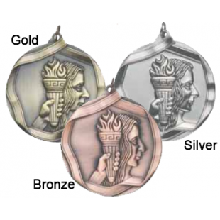 "Female Gymnastics 2-1/4"" Die Cast Medal"