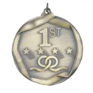 "First Place 2-1/4"" Die Cast Medal"