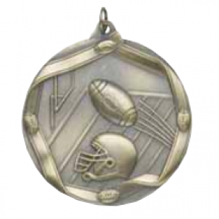 "Football 2-1/4"" Die Cast Medal"