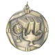 "Lamp of Knowledge 2-1/4"" Die Cast Medal"