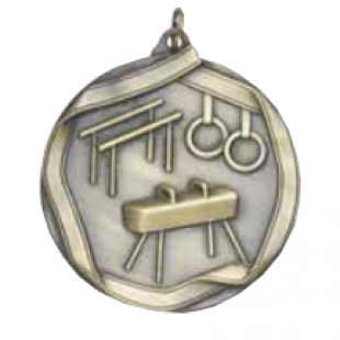 "Male Gymnastics 2-1/4"" Die Cast Medal"