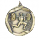 "Male Weight Lifter 2-1/4"" Die Cast Medal"