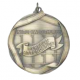 "Perfect Attendance 2-1/4"" Die Cast Medal"