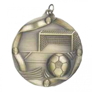 "Soccer 2-1/4"" Die Cast Medal"
