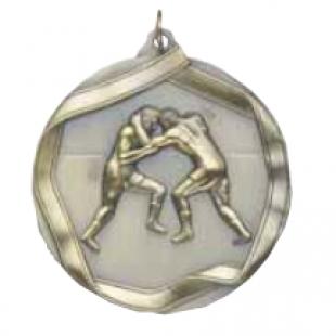 "Wrestling 2-1/4"" Die Cast Medal"