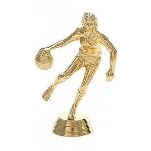 Action Basketball Player- Female (Round)